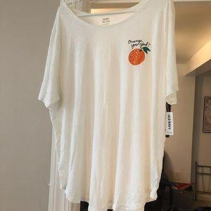 "Old Navy Tops - Old navy ""orange you glad"" graphic tee"